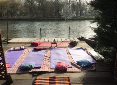 Yoga by the river